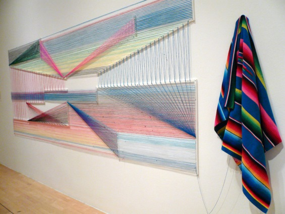 Adrian Esparza Weaves Magic to Create Geometric Installations from Sarape Blankets
