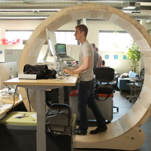 Hamster Wheel Desk: Innovative Office Furniture or Snarky Capitalist Satire?