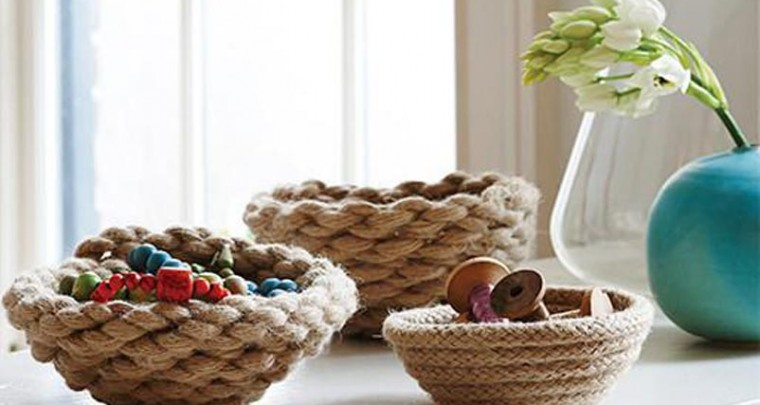 DIY Rope Bowls for Your Odds and Ends!
