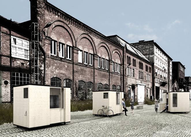 Poland's Abandoned Gdańsk Shipyard to Become Habitable With Tiny Houses on Rails